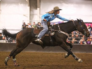 PHOTO: Teen Cowgirl Adeline Nevala will compete on March 1 in The American Rodeo held at AT&T Stadium in Arlington, Texas.