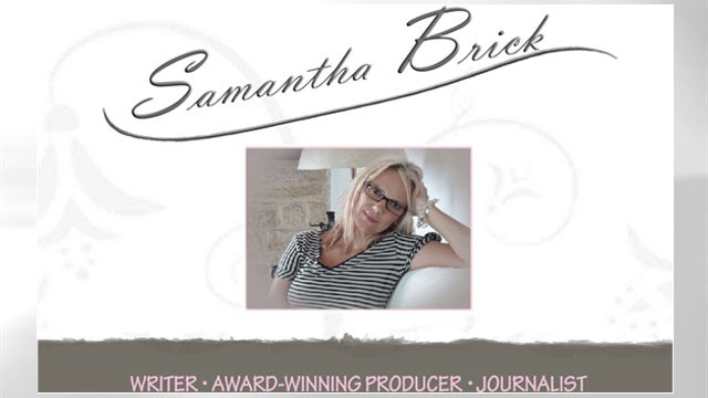 PHOTO: The homepage of Samantha Brick's website is shown, April 3, 2012.