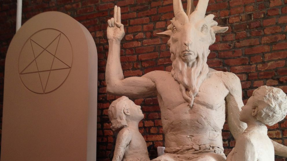 PHOTO: One national Satanic group, The Satanic Temple, is pushing to have this statue (pictured) put up in the Oklahoma State Capitol. Another group with similar beliefs will be holding a black mass in Oklahoma City on Sept. 21, 2014.