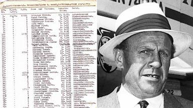 PHOTO: Oskar Schindler and original copy of his list