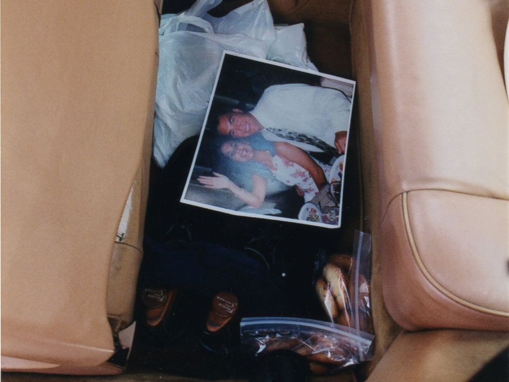 A photo of Scott and Laci Peterson found inside Scott Petersons car when it was searched in 2003.