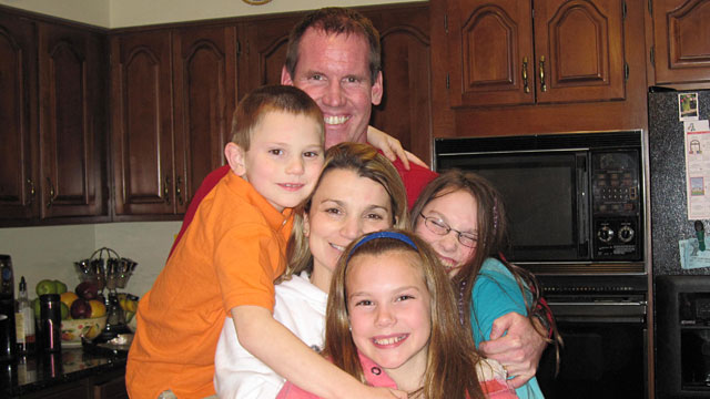 PHOTO: Sean Lanigan and his wife Karin with children Briana, Kylie, and Daniel on Christmas in 2009. Sean Lanigan was charged with two felonies, then exonerated, but he still struggles to pay the legal bills he incurred while defending himself.