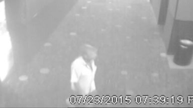 PHOTO: A video screen shot shows alleged Lafayette theater shooter the day of the tragedy