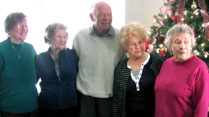 PHOTO After 80 years of separation, the surviving five children born to George and Dixie Lee Chrisman were reunited last weekend after an Internet posting by Millers son reached the niece of one of her biological sisters.
