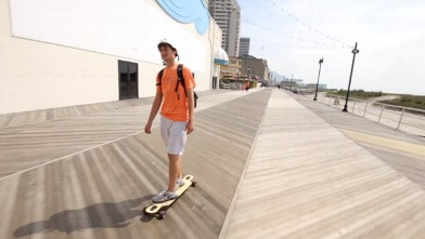 PHOTO: Two guys skateboard 47 miles in this Vimeo video.