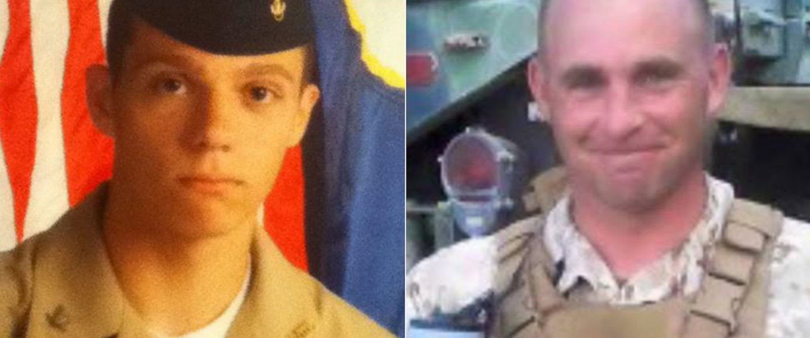 PHOTO: Skip Wells, left, and Thomas Sullivan, right, are seen in these undated photos. Both were killed in a shooting on July 16, 2015 in Chattanooga, Tenn.