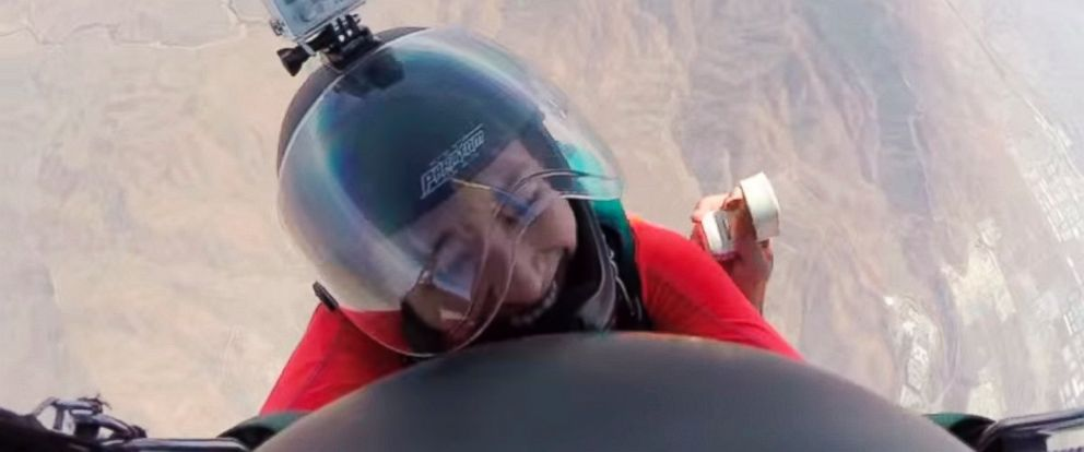 PHOTO: Brandon Strohbehn proposed to his girlfriend while skydiving.