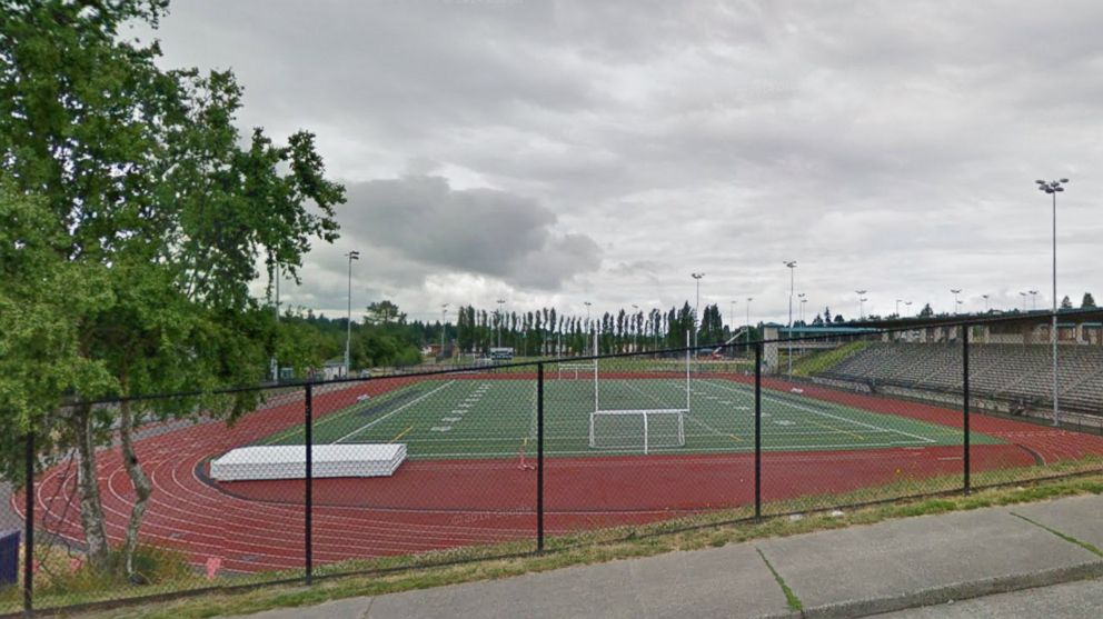 PHOTO: A Google Street View image shows the football field across from Chief Sealth High School in Seattle, Wash.