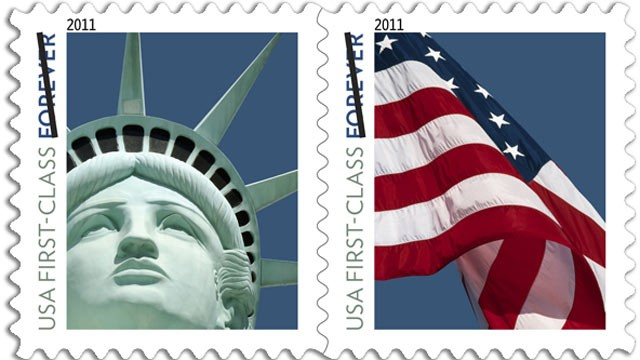 statue of liberty stamp. the Statue of Liberty.