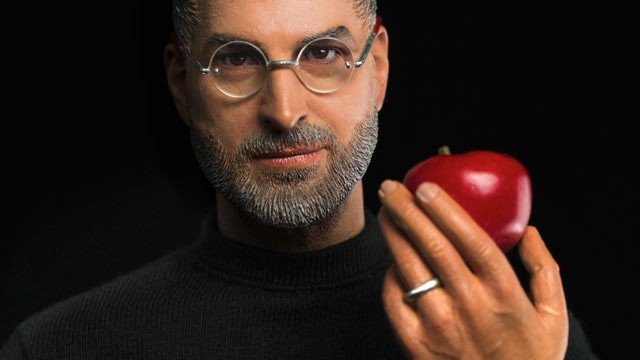 PHOTO: Hong Kong-based company In icons created a Steve Jobs action figure that has an eerie likeness to the late Apple CEO, down to the pores on his face.