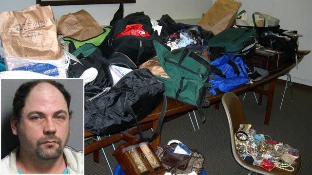 PHOTO: Police in upstate New York, who recovered 31 duffel bags stuffed with jewelry after the arrest of John W. Suddard, Jr., now face the daunting task of finding owners for the mini-mountain of loot.
