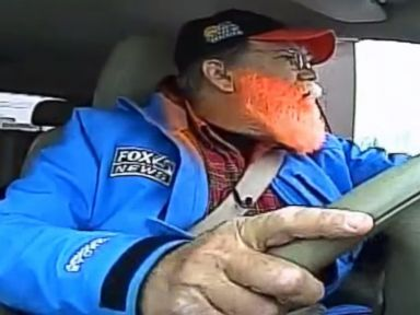 PHOTO: A traffic reporter orders food in a McDonalds drive-thru in a video titled, Can I Get a Fish Sandwich? Traffic Jam Jimmy Caught in the Drive-Thru During Traffic Report that was posted to YouTube on March 5, 2015.