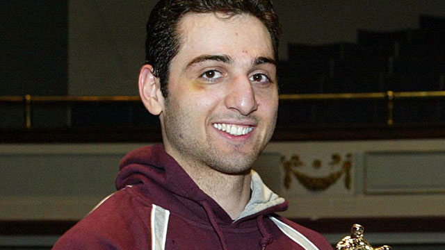 PHOTO: Tamerlan Tsarnaev accepts the trophy for winning the 2010 New Engla