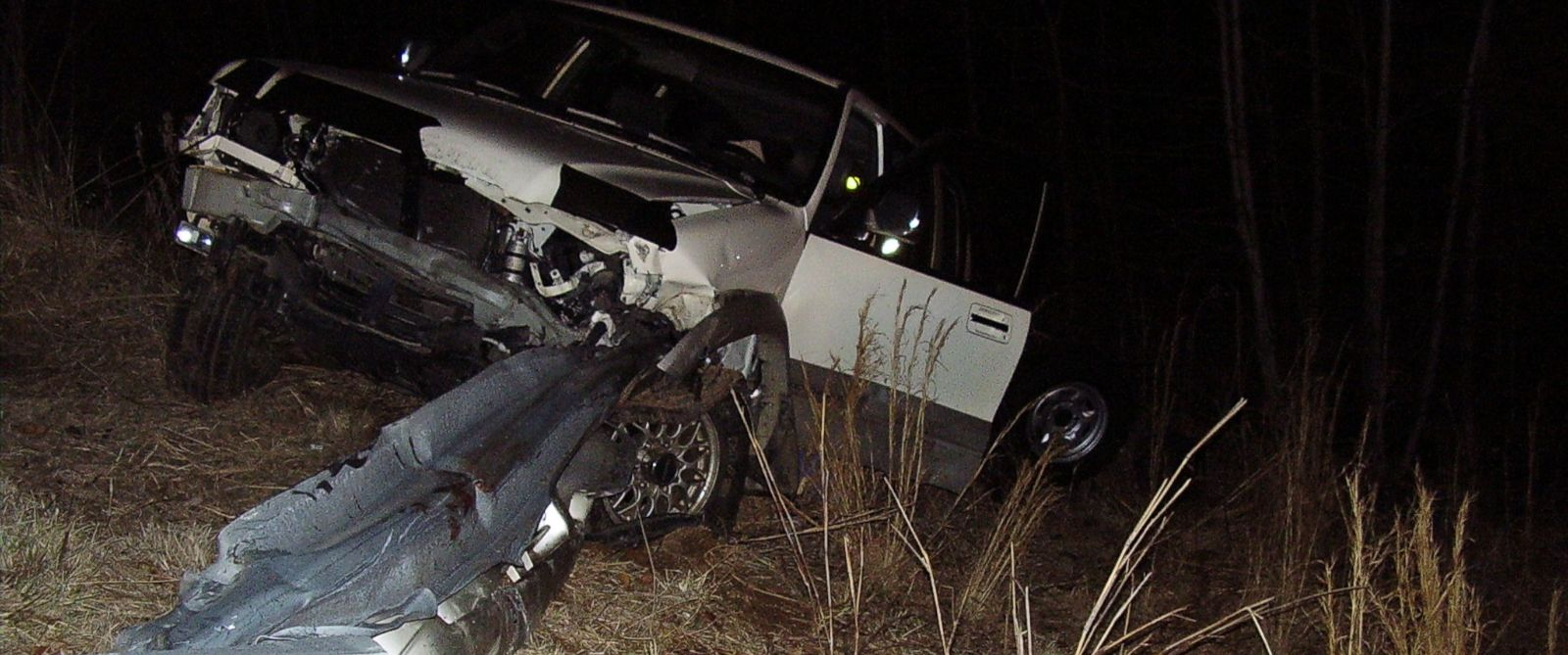 PHOTO: In a wreck in North Carolina, a guardrail pierced the car of N.C. man Jay Traylor, severing his legs.