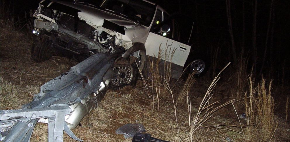 PHOTO: During a wreck, a guardrail pierced the car of North Carolina man Jay Traylor, severing his legs.