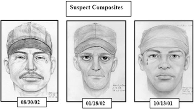 PHOTO: 'Teardrop Rapist' sketches