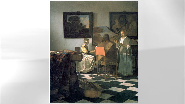 PHOTO: The Concert painting by Johannes Vermeer.