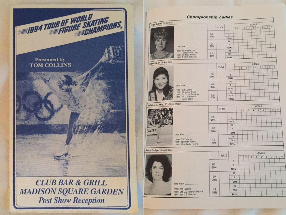 PHOTO: The collection of the Tonya Harding and Nancy Kerrigan Museum 1994 includes a selection of event programs and booklets.