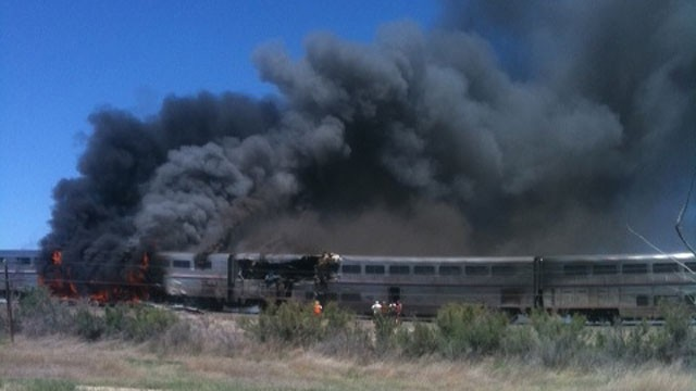 PHOTO:&nbsp;Train-Truck Collision Outside Reno, Nev., Kills At Least 2