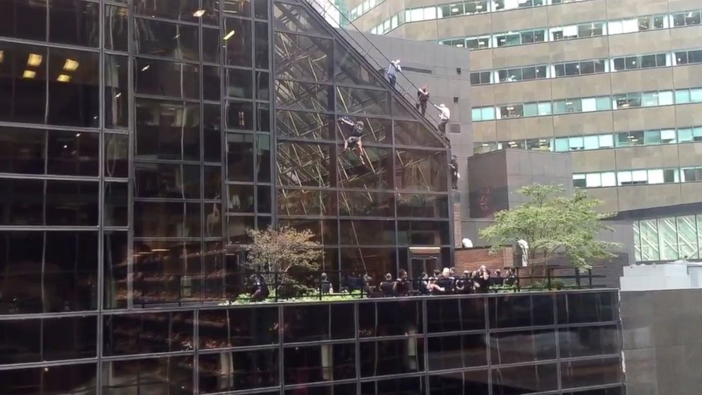 Donald Trump responds after supporter climbs Trump Tower