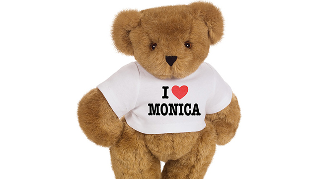 PHOTO: Seen here is a custom t-shirt on a teddy bear, a 'Made in America' gift for Valentine's Day.