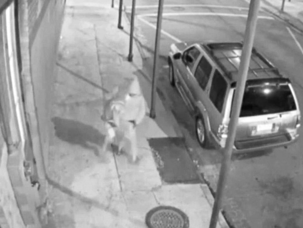 PHOTO: Surveillance footage shows the suspect, identified by police as Euric Cain, carrying a woman towards his car on Nov. 20, 2015.