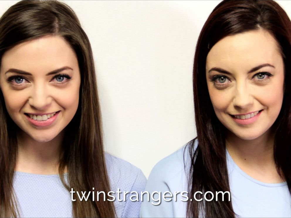 PHOTO: Niamh Geaney, 26 and her doppelganger Karen Branigan, 29, are pictured here.
