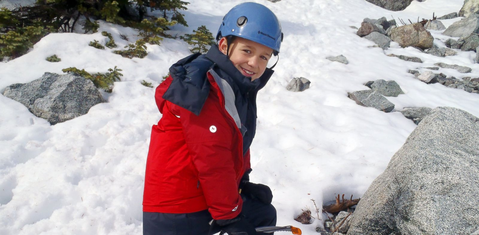 PHOTO: Tyler Armstrong, 9, is set to make the icy climb up Mount Aconcagua