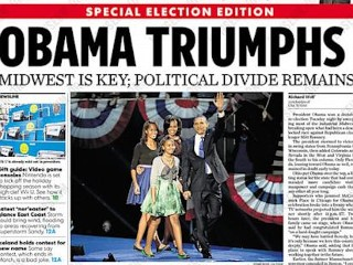 Photos: Papers Announce Obama Win