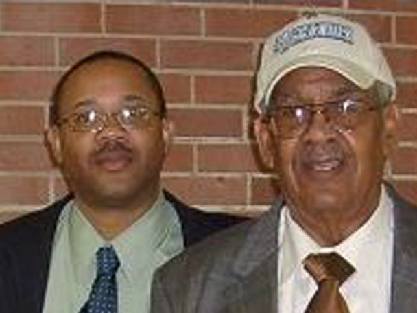 PHOTO: Sean Jenkins with his grandfather, Charles Benning.