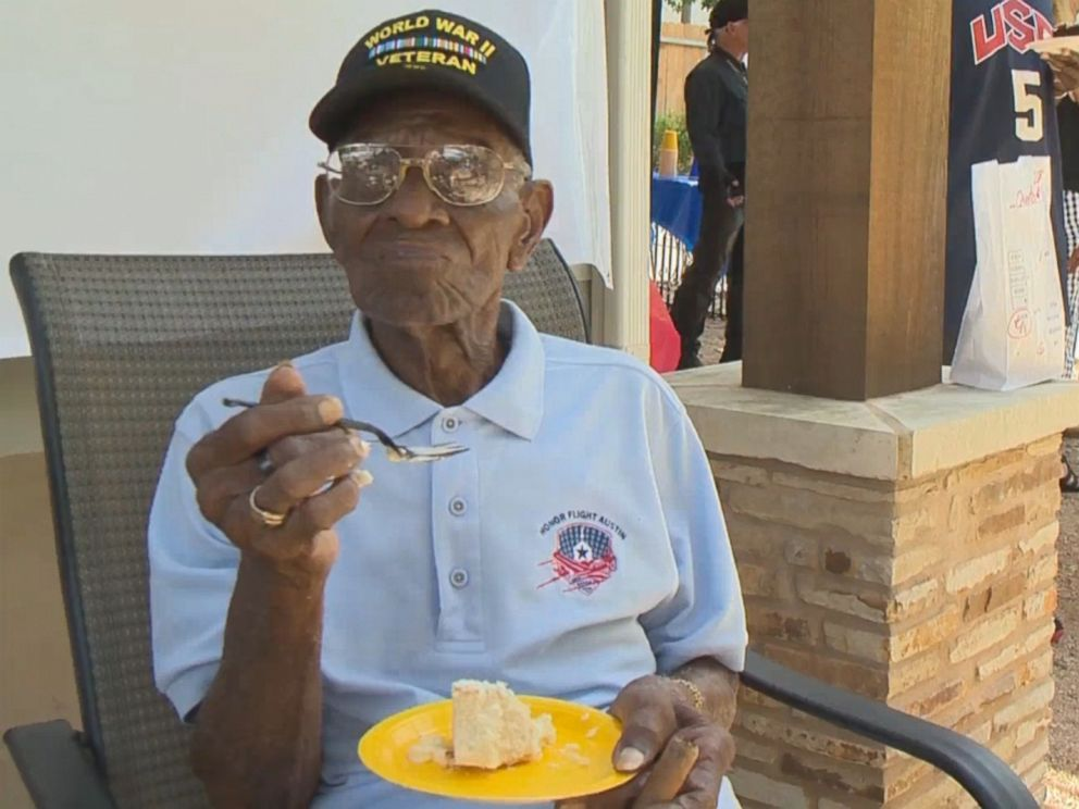 PHOTO: Richard Overton is pictured celebrating his 109th birthday.