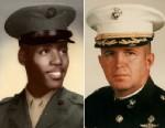 PHOTO: Marine and Vietnam Vet Cpl. Arthur Phillips, left, and Lt. Col James Volkmar, right.