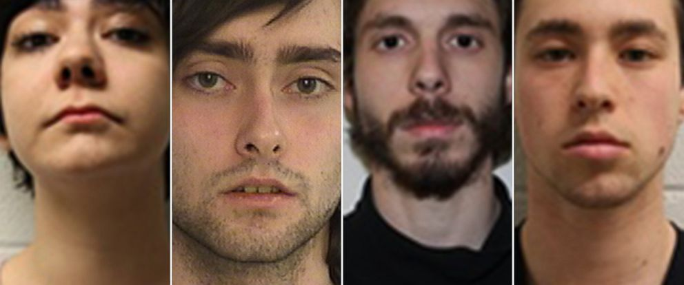 PHOTO: On Feb. 24, 2015, Middletown police announced the arrest of four Wesleyan University students in relation to MDMA overdoses at the school. Left to right: Rama Agha Al Kakib, 20, Andrew Olson, 20, Eric Lonergan, 21, and Zachary Kramer, 21.