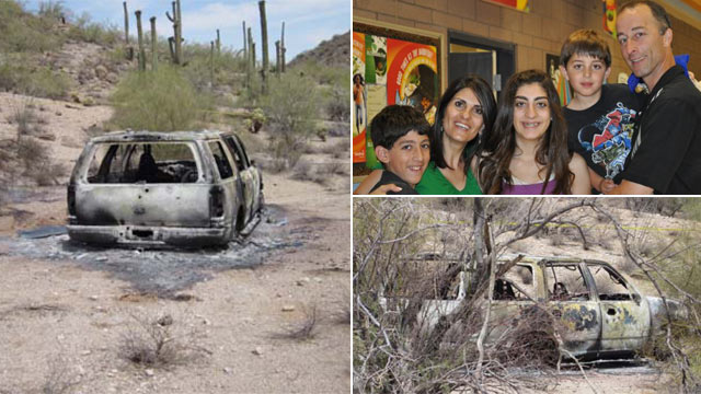 PHOTO: The bodies of James Butwin, his wife and their three children were found in a scorched car in the desert.