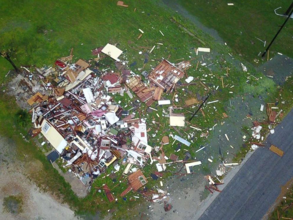 PHOTO: Daylight shows the devastation in Rockport and surrounding areas of southeast Texas, Aug. 26, 2017.