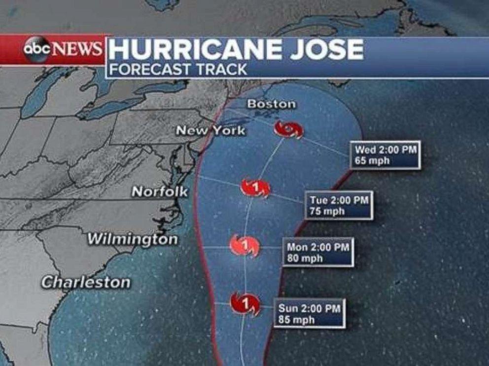 PHOTO: Hurricane Joses forecast is seen here.