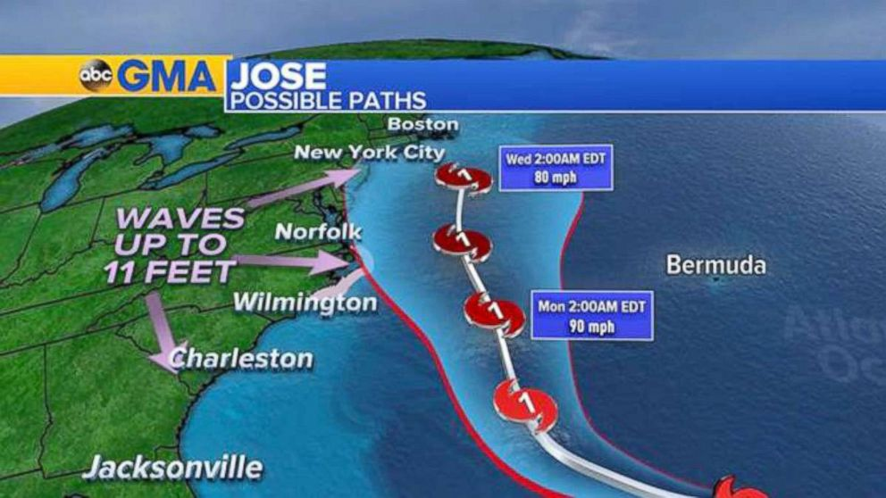 ABC News Jose possible paths as of Sept. 15 2017