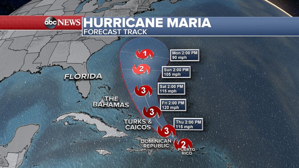 PHOTO: Hurricane Maria forecast tracker.