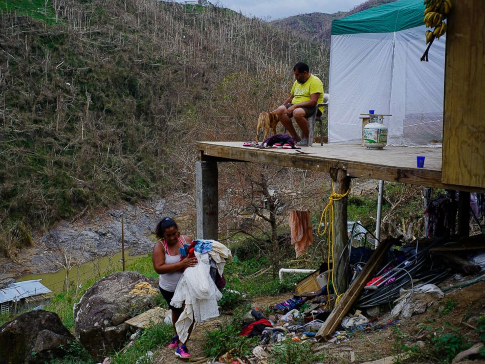 In puerto rico a post maria infant begins life in a for Cleaning out house after death
