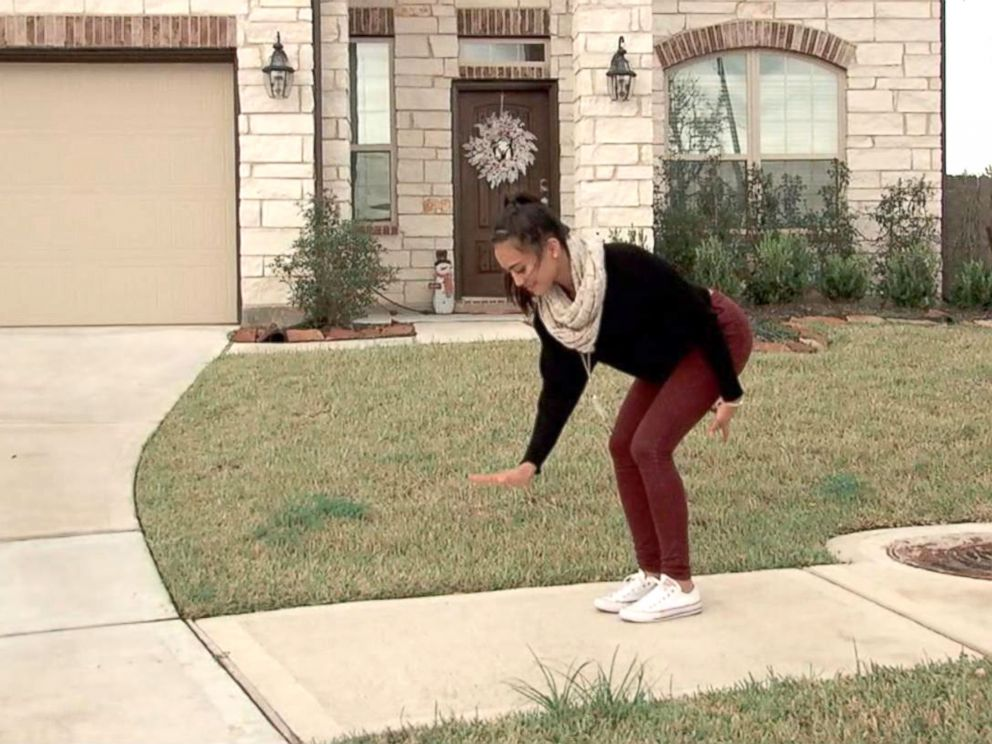 Texas cheerleader's invisible box challenge goes viral
