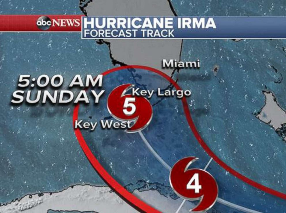 PHOTO: Hurricane Irma forecast tracker.