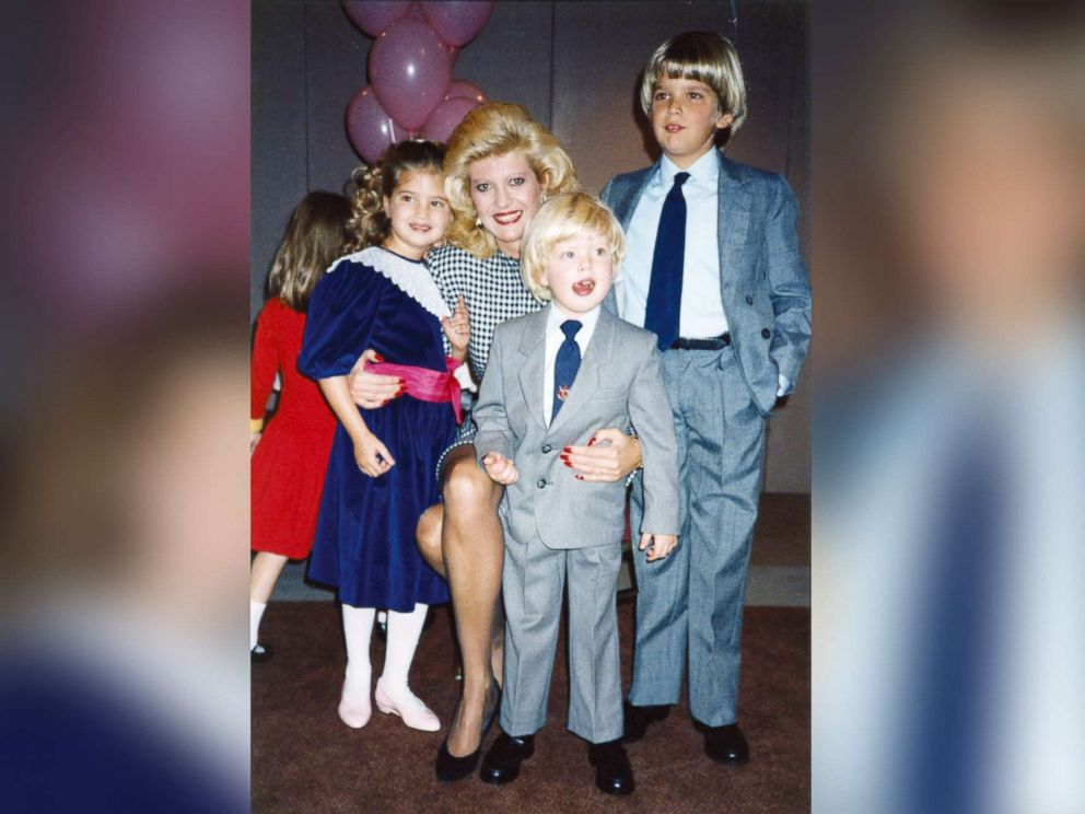 PHOTO: Ivana Trump poses with her children at a birthday party circa 1987.
