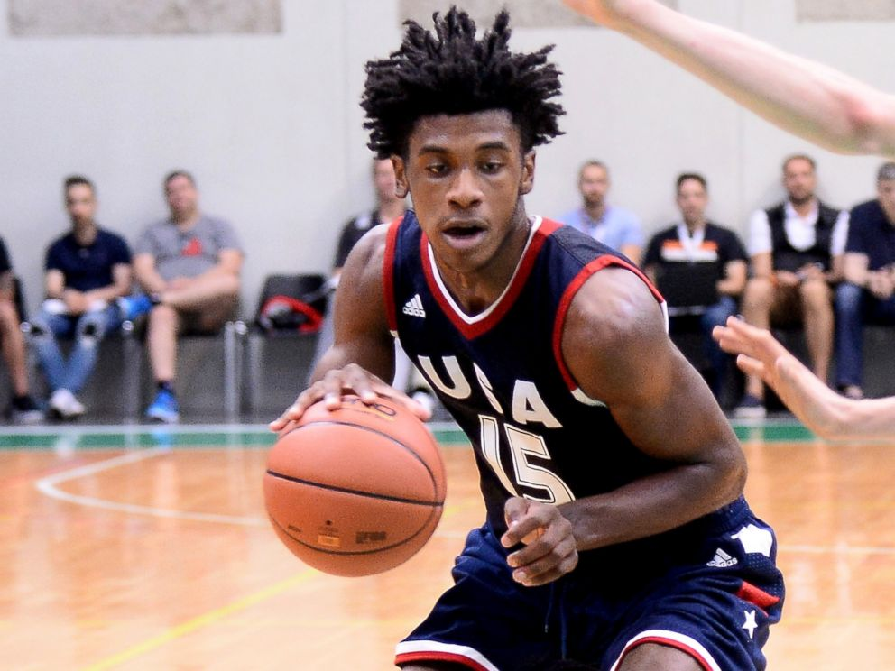 PHOTO: Jalen Hill of Team USA during Adidas Eurocamp Day One at La Ghirada sports center, June 10, 2016, in Treviso, Italy.