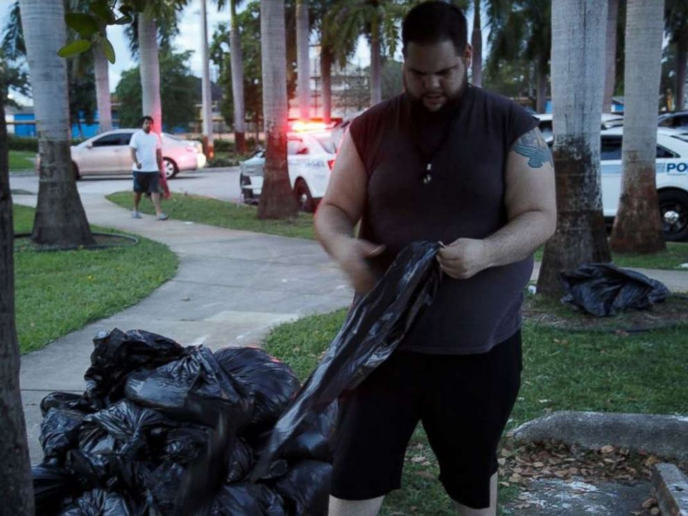 PHOTO: Miami resident Jan-Michael Medina is hunkering down in the city during Hurricane Irma.