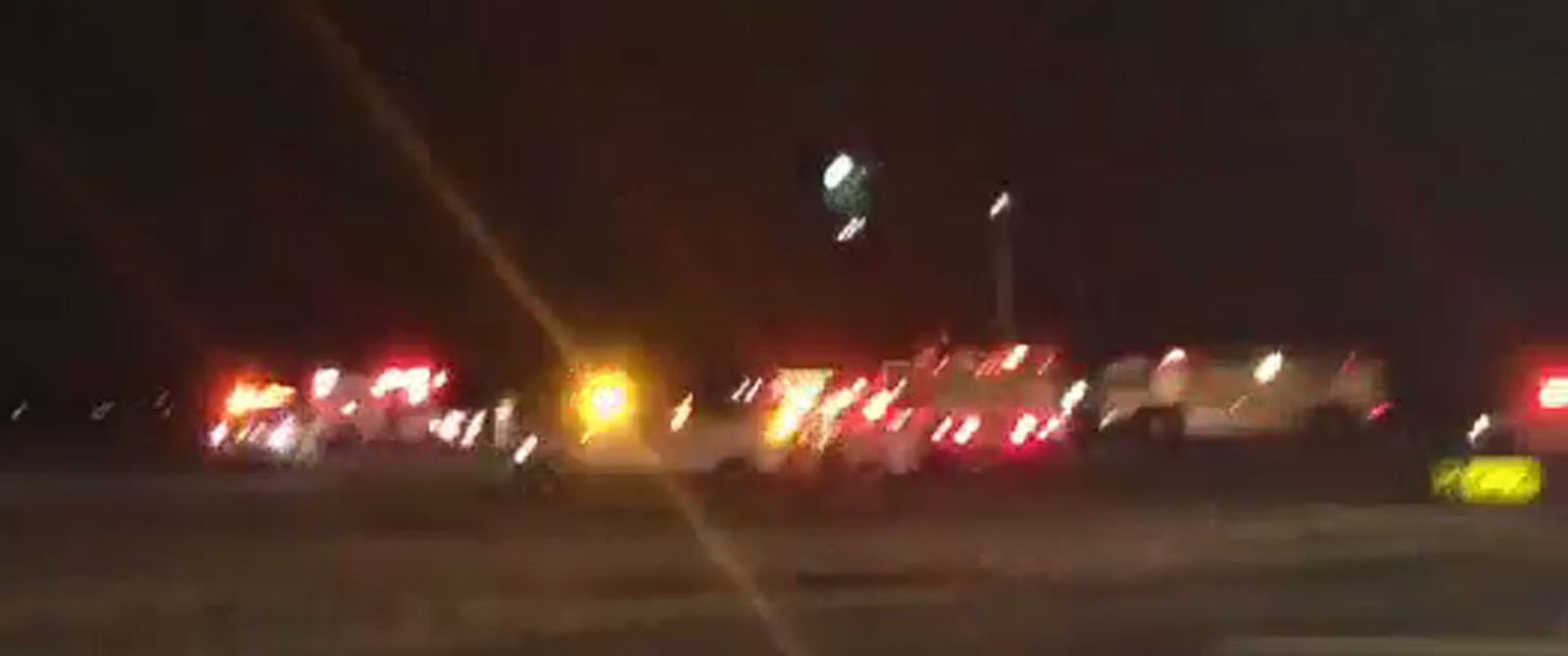 PHOTO: Emergency vehicles at John F. Kennedy International Airport in New York City after a reported bomb threat.