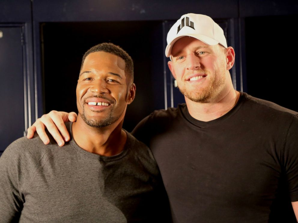 PHOTO:Football star J.J. Watt opened up about how he raised over $26 million for Hurricane Harvey relief efforts in an interview with ABC News Michael Strahan.
