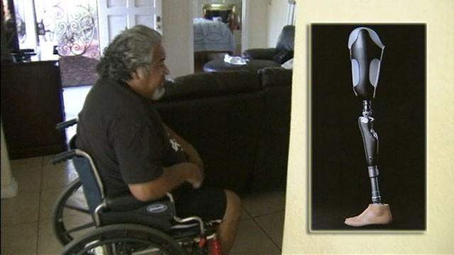 VIDEO: Juan Hernandezs trip to a California theme park cost him his truck and prosthetic leg.