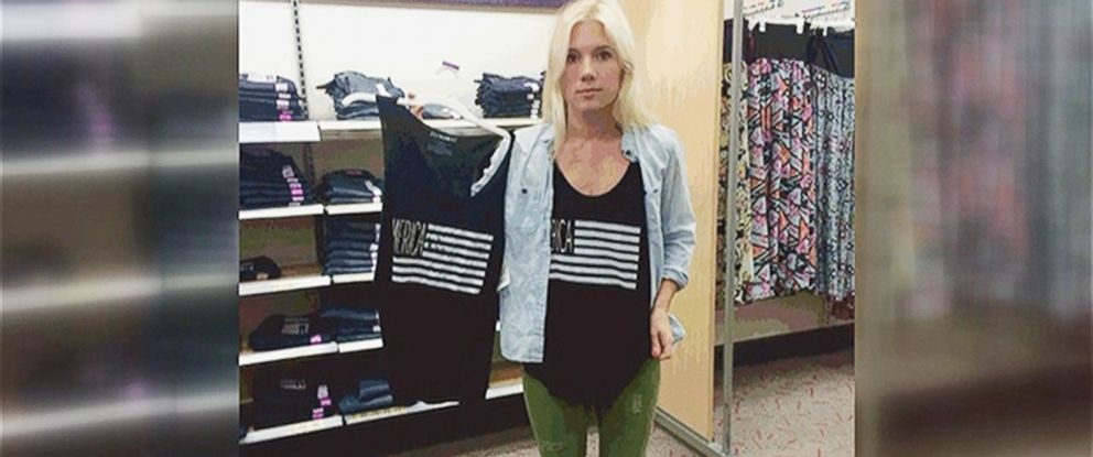 PHOTO: Small business owner Melissa Lay of Milwaukie, Ore. says that a design that she created for her t-shirt business has appeared on very similar shirts for sale at Target.