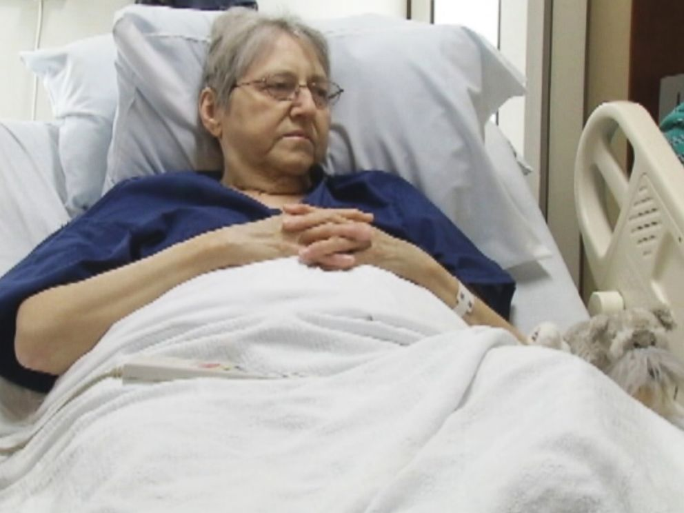 PHOTO: Nancy Franck was recovering from surgery at Mercy Medical Center in Cedar Rapids, Iowa when her dog ran away from home to come find her.y.