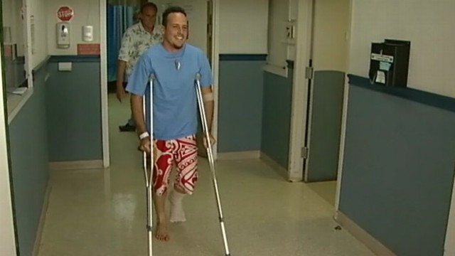 VIDEO: Man in Hawaii gets 42 stitches after tiger shark attack.